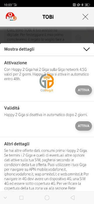Vodafone celebrates the birthday of TOBi: how to get 2 GB as