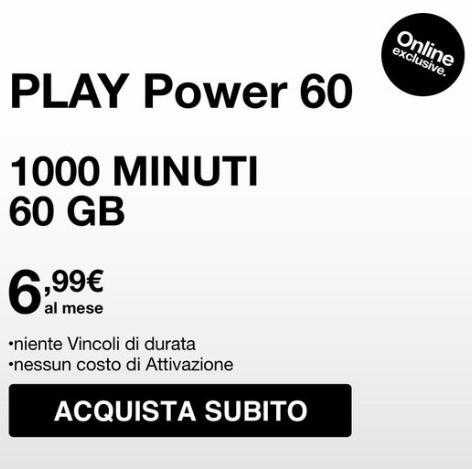 Black Friday tre Play Power 60 GB 1