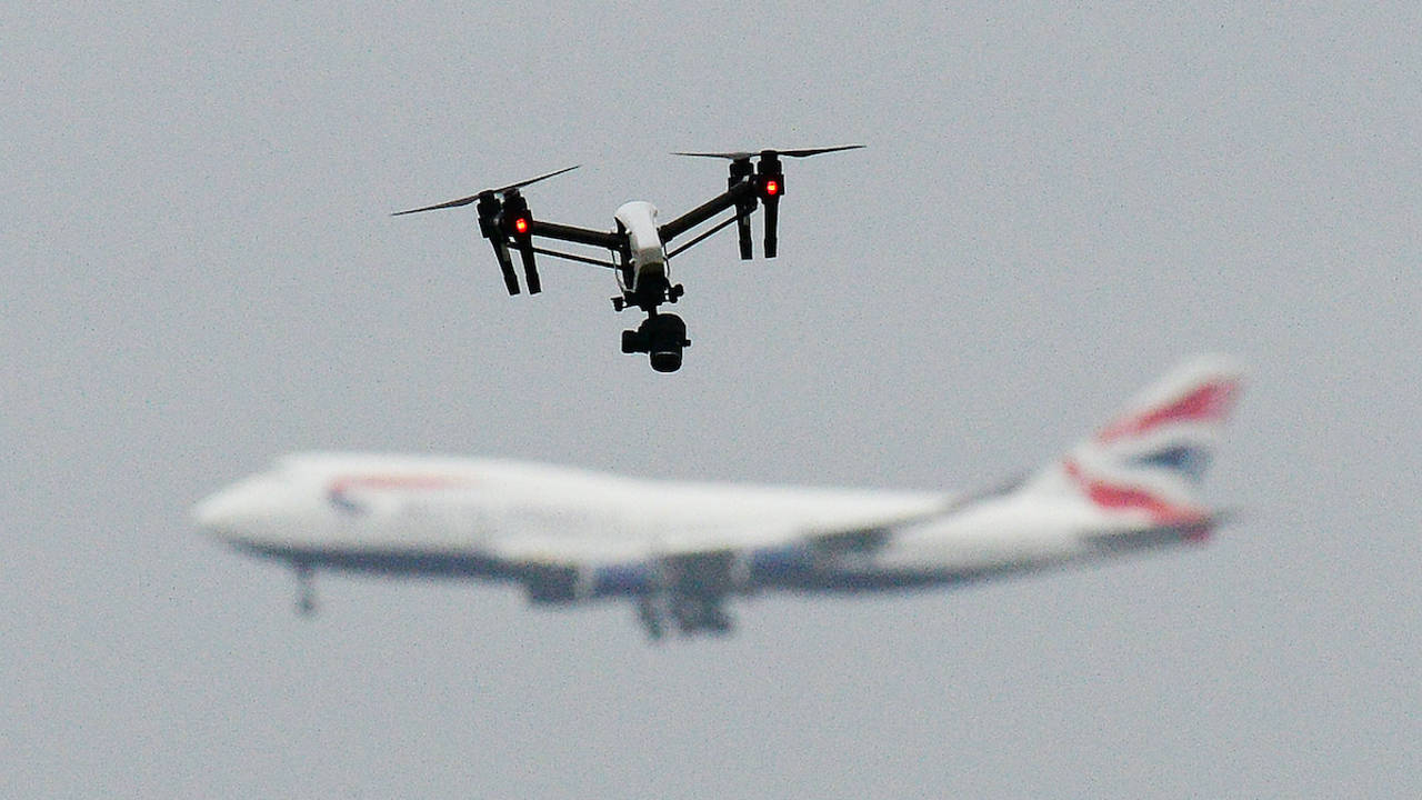 aeropuerto drone aire