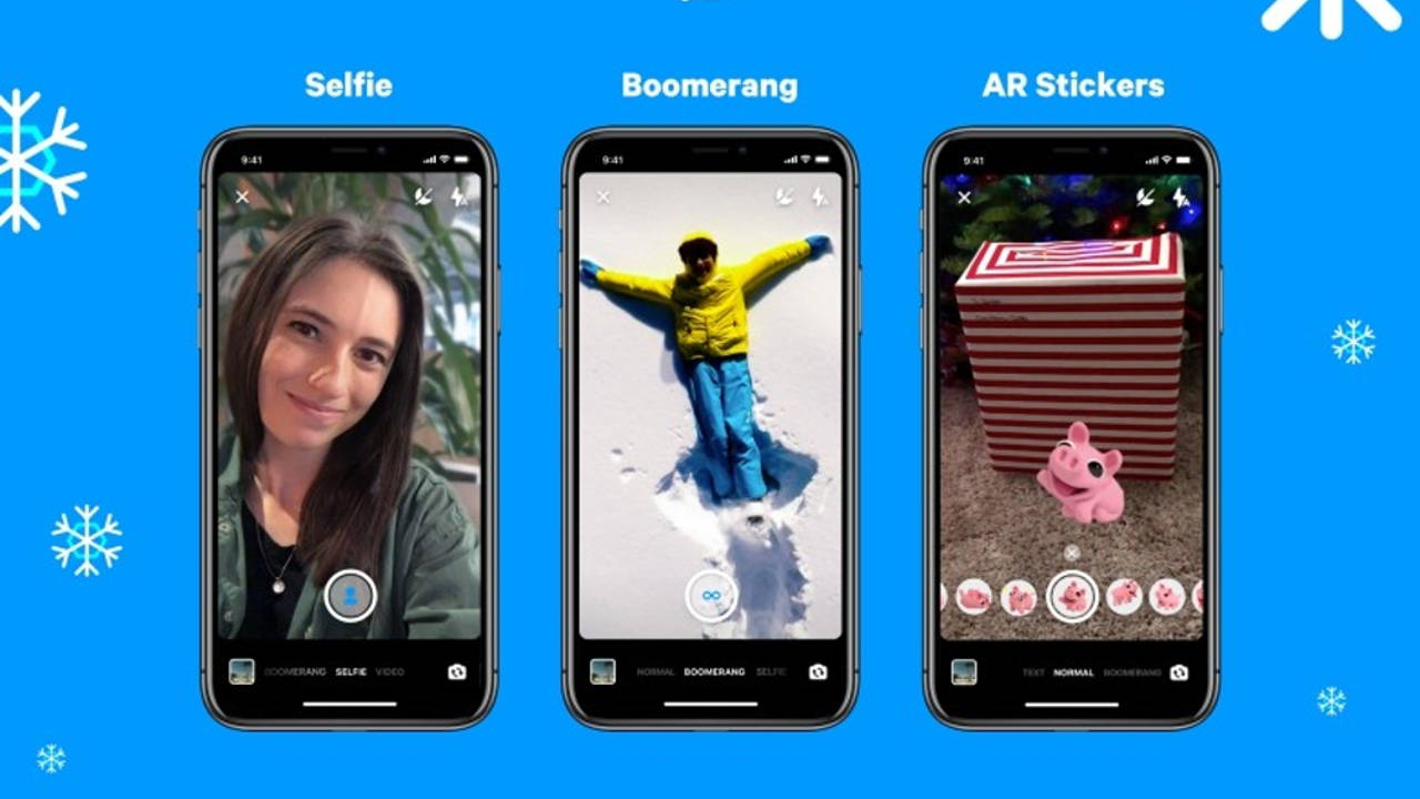 facebook messenger boomerang selfie sticker ar