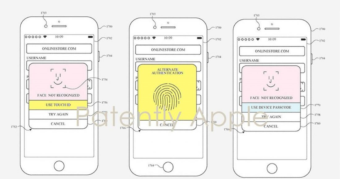 touch id face id iphone apple watch brevetto