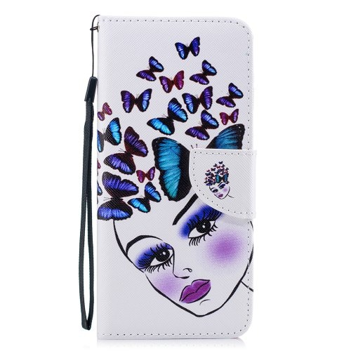 Color Painting Flip Wallet Cover for Samsung Galaxy A9 Star Lite Phone Case