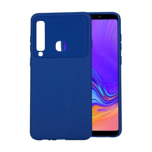 for Samsung Galaxy A9 2018 Phone Case Carbon Fiber Shockproof TPU Back Cover