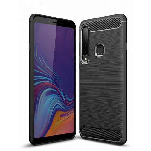 Naxtop Carbon Fiber Brushed Non-slip Soft Protective Back Cover Case for Samsung Galaxy A9 2018 / A9 Star Pro / A9S