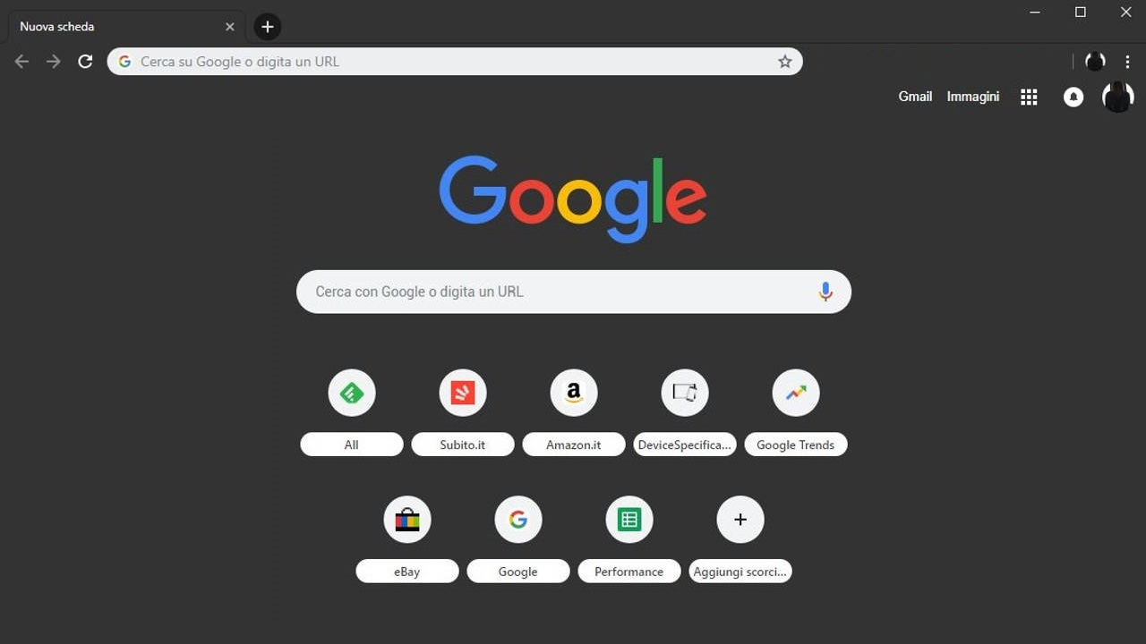 tema de google chrome negro