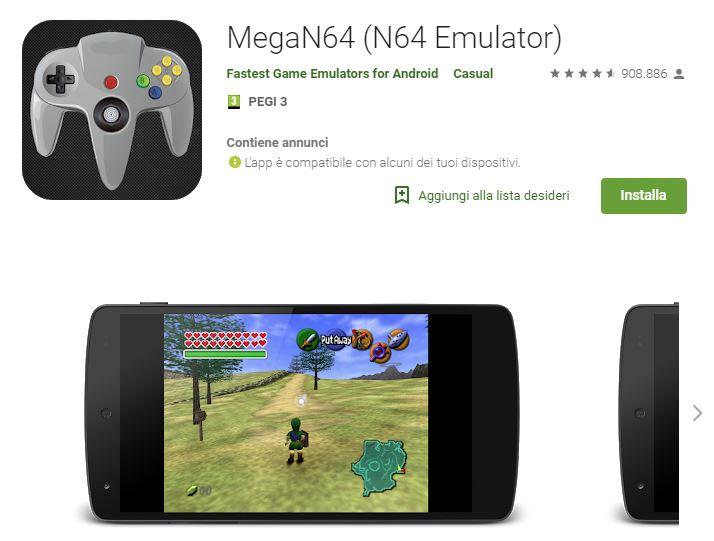 mega n64 emulator games download