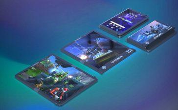Samsung plegable juego de teléfono inteligente