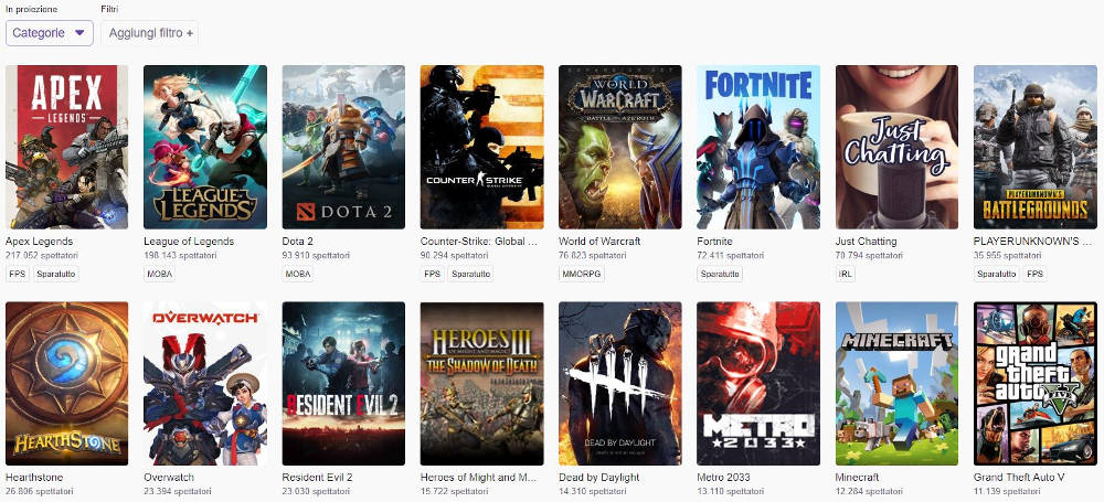 Apex Legends exceeds Fortnite (and not only) on Twitch: well