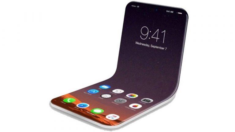teléfono inteligente plegable de manzana