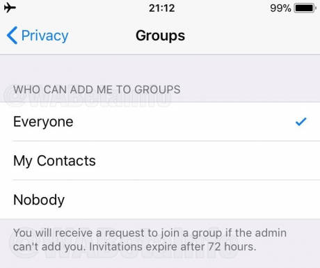 WhatsApp introduces the invitation requirement for groups