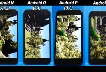 android nougat oreo pie