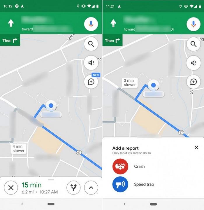 google maps incidenti autovelox