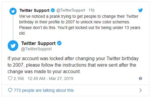 soporte de twitter