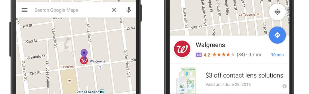 google maps pubblicità