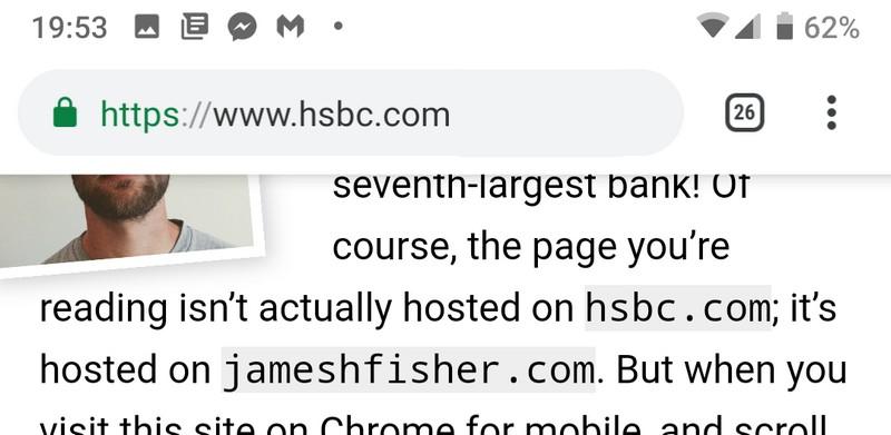 адресная строка Google Chrome для Android