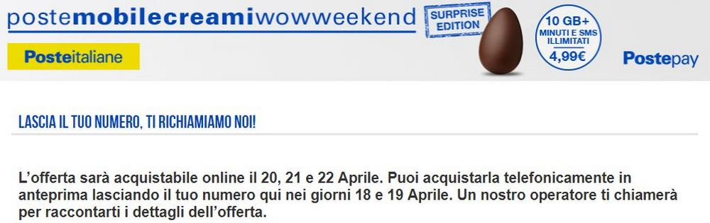 postemobile creami wow weekend surprise edition