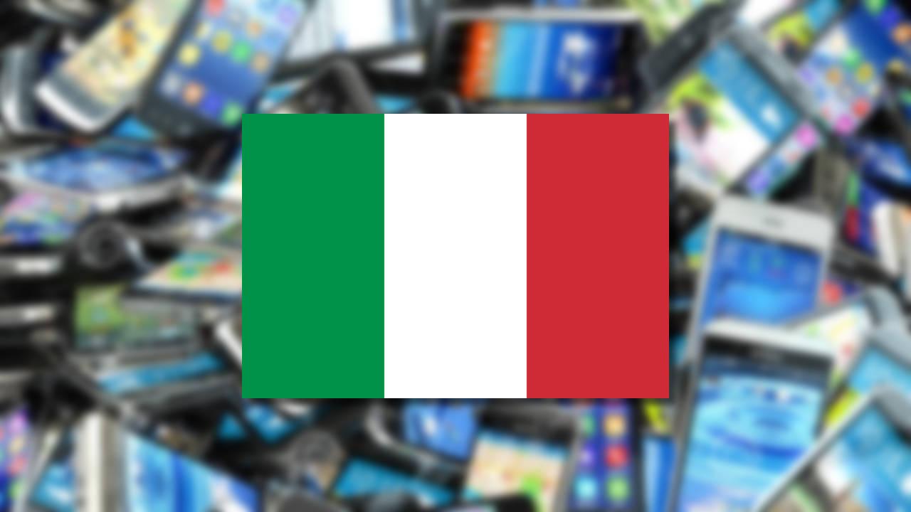 smartphones más usados italia