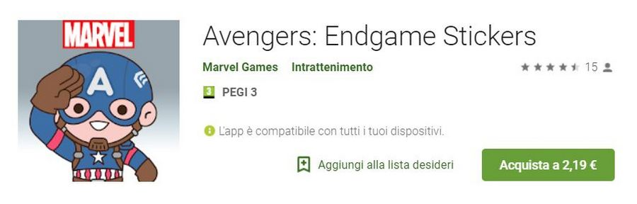 avengers eindspel stickers