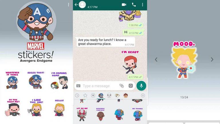 Vengeurs Endgame autocollants whatsapp
