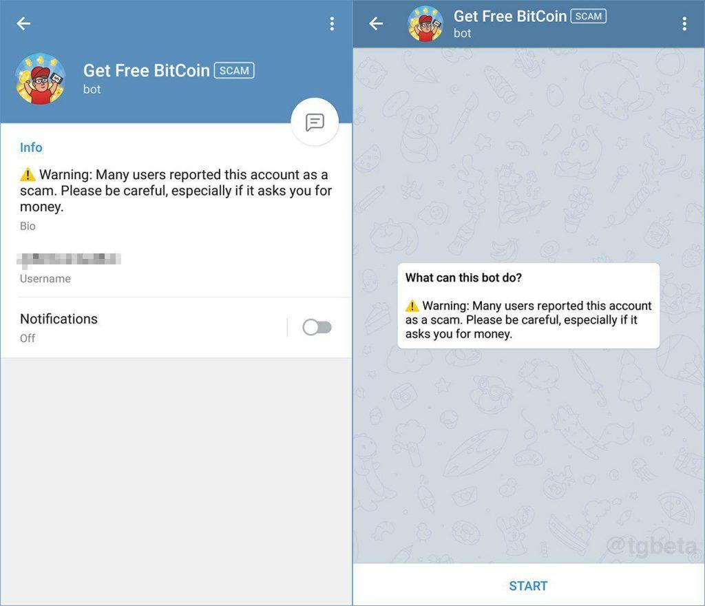 bot telegram scam