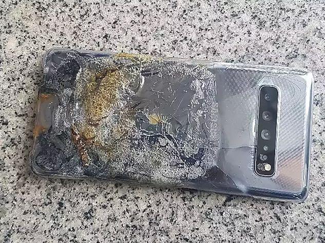 Samsung Galaxy S10 5G a fuoco