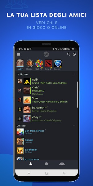 steam chat android ios