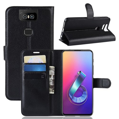 Case in Litchi PU leather for ASUS Zenfone 6 ZS630KL
