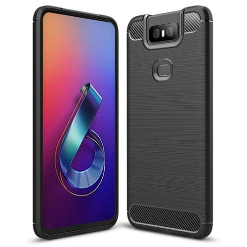 Shockproof carbon fiber mobile phone case for ASUS Zenfone 6 ZS630KL
