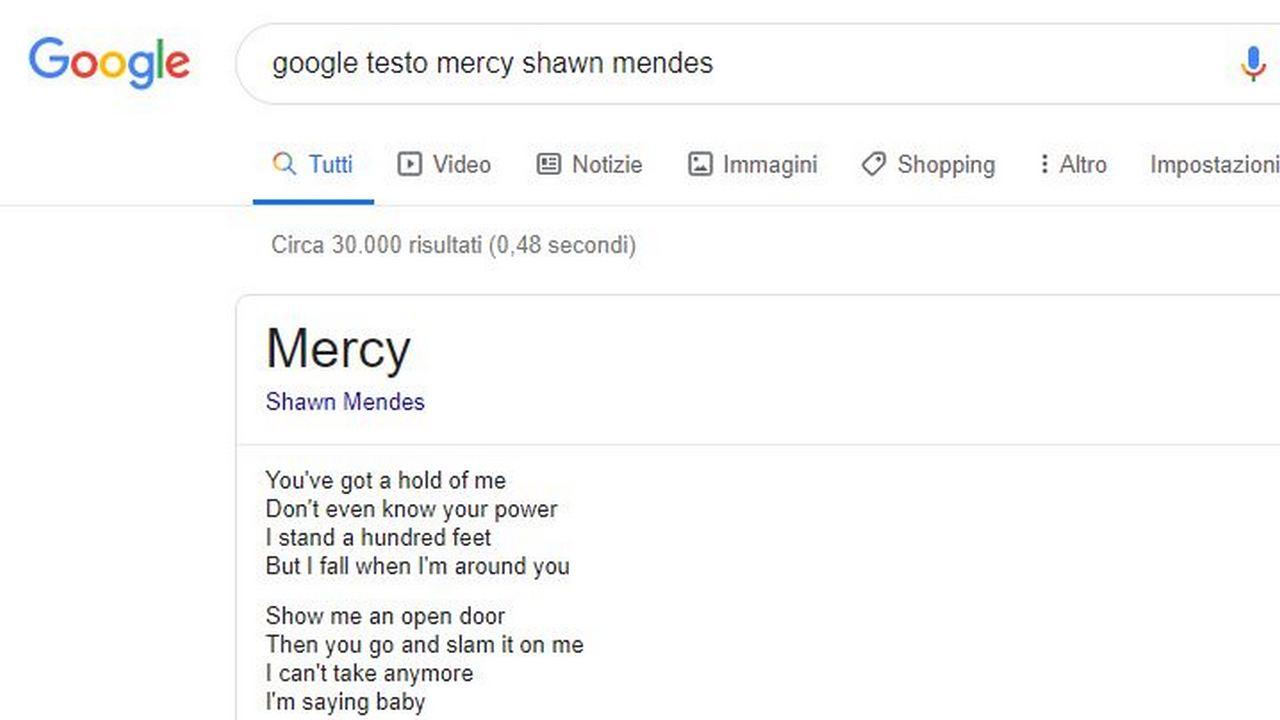 google testi canzoni