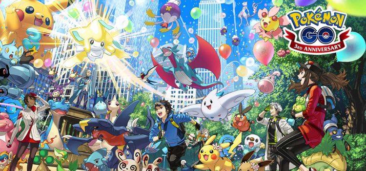 pokémon go tre anni terzo anniversario