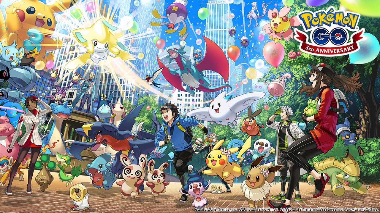Pokémon ir tres años tercer aniversario