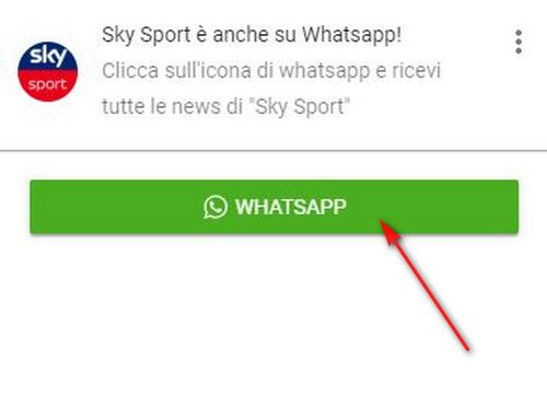 whatsapp skysport news