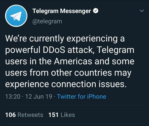 Telegrama ataque hacker 12 junio