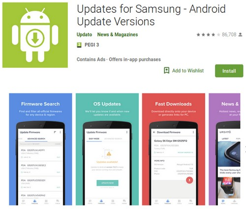 samsung app fake aggiornamento