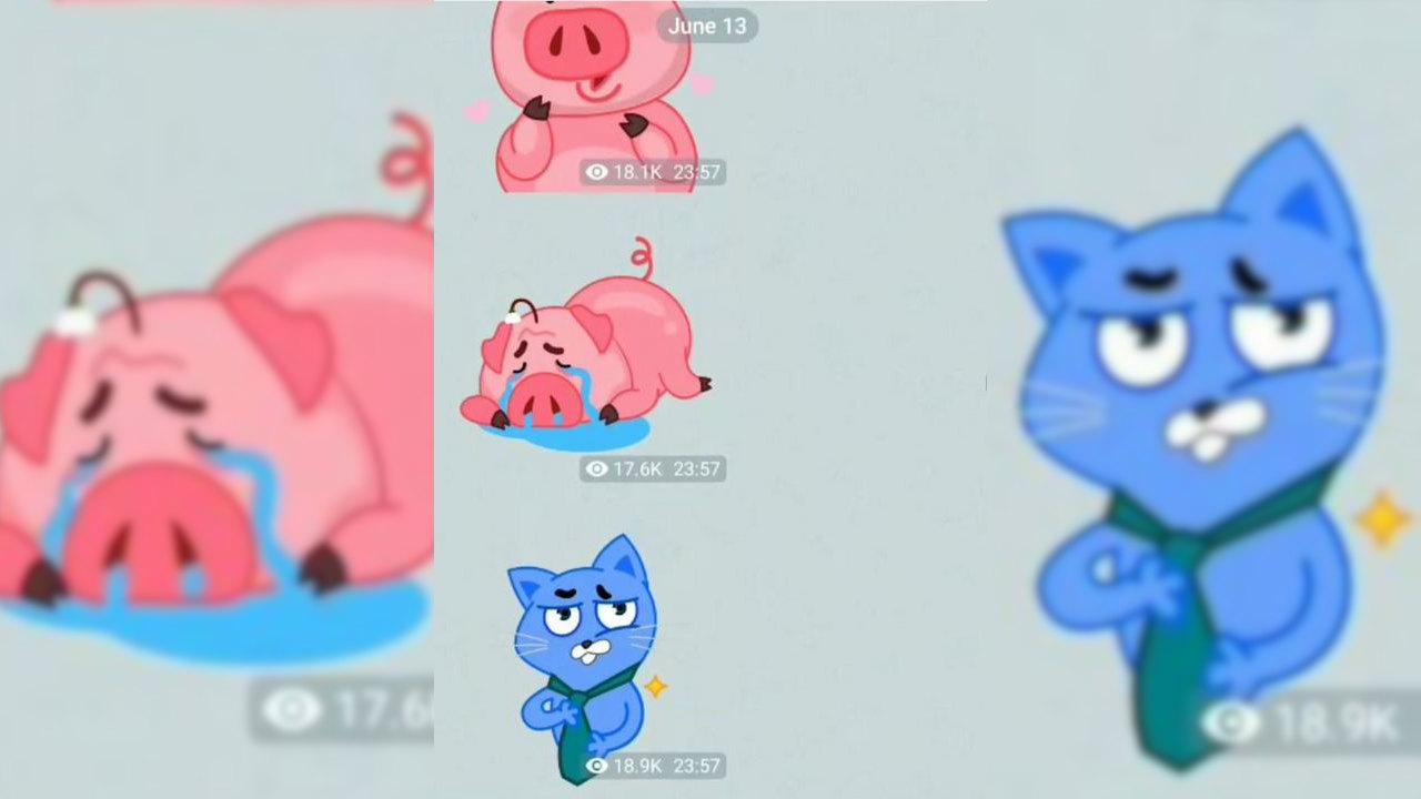 stickers animati telegram