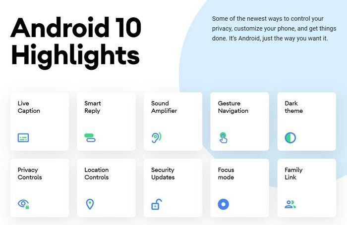 android 10 ufficiale novità dispositivi supportati download