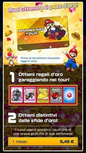 gold pass mario kart tour