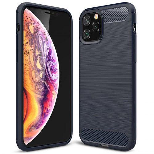 Naxtop Carbon Fiber Brushed Soft Back Cover Fully Protected Phone Case For Apple IPhone 11 Pro Max / IPhone 11 Pro / IPhone 11