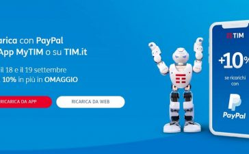 tim ricarica online paypal