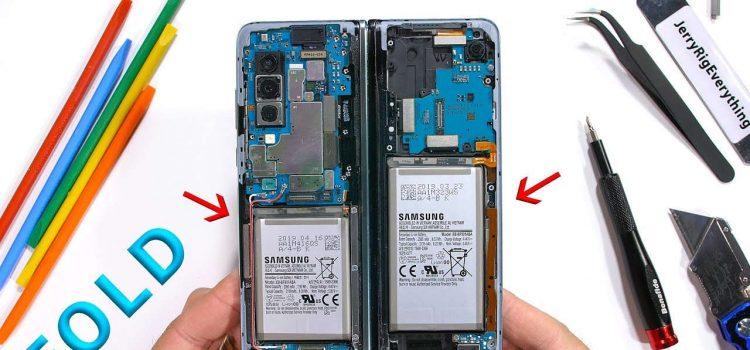desmontagem da dobra da galáxia de Samsung