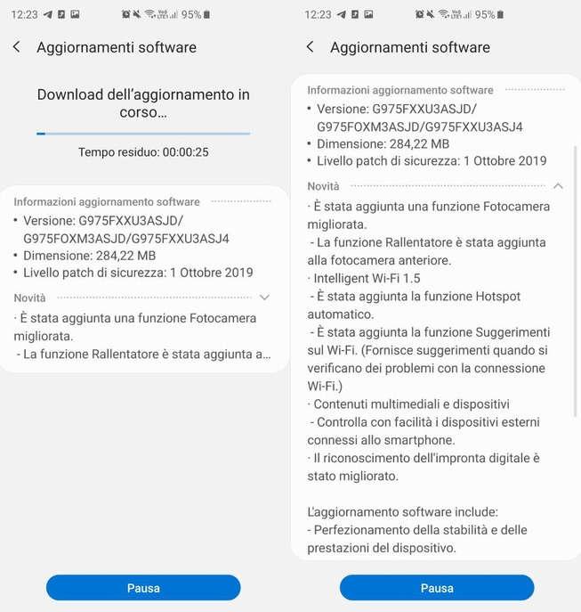 Atualização Samsung Galaxy S10