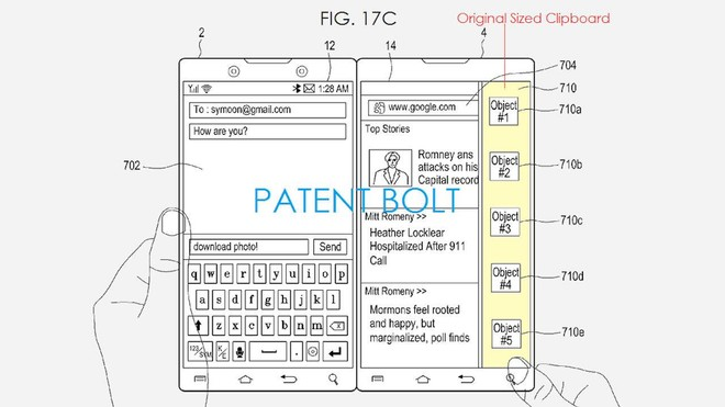 samsung brevetto surface duo