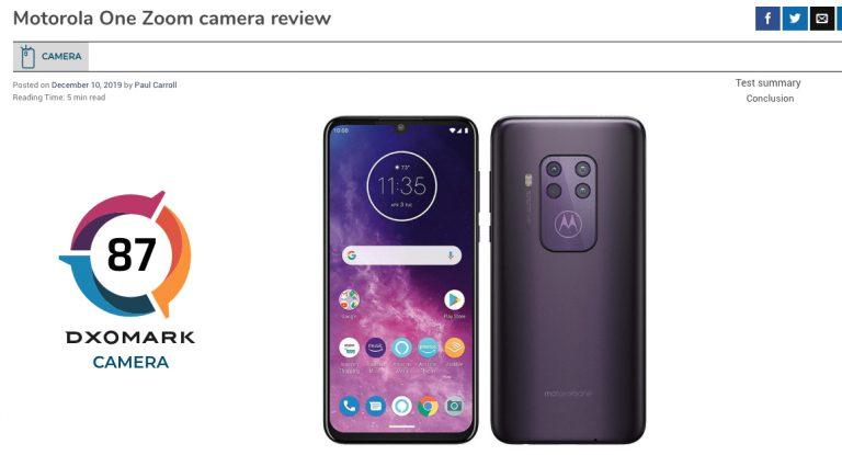 Motorola One Zoom su DXOMARK