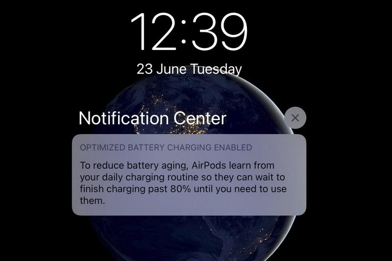 apple airpods caricamento ottimizzato batteria ios 14