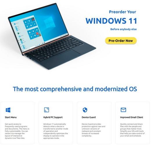 windows 11 pre ordine rivendotore autorizzato microsoft fake 2