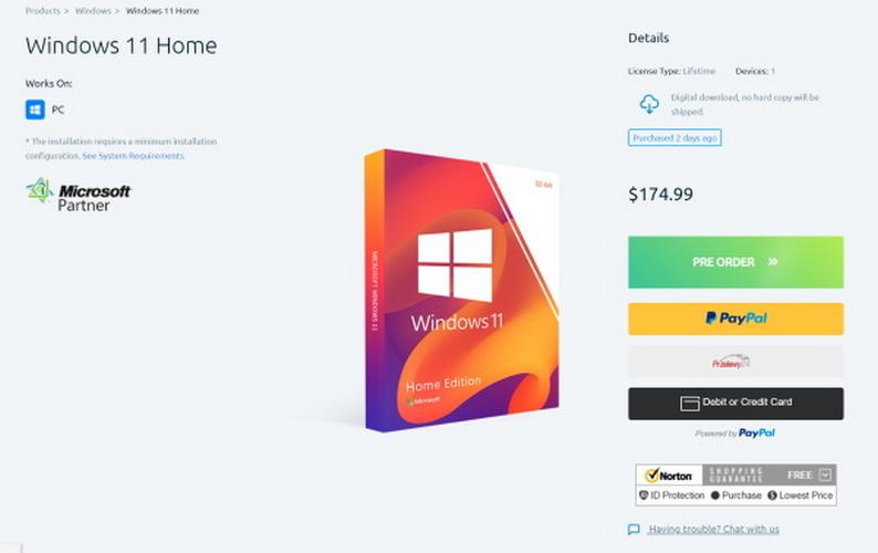 windows 11 pre ordine rivendotore autorizzato microsoft fake