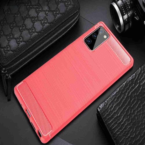 Brushed Carbon Fiber Phone Case for Galaxy Note 20