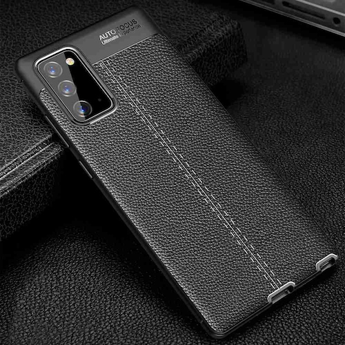 Leather Texture Carbon Fiber Phone Case for Galaxy Note 20
