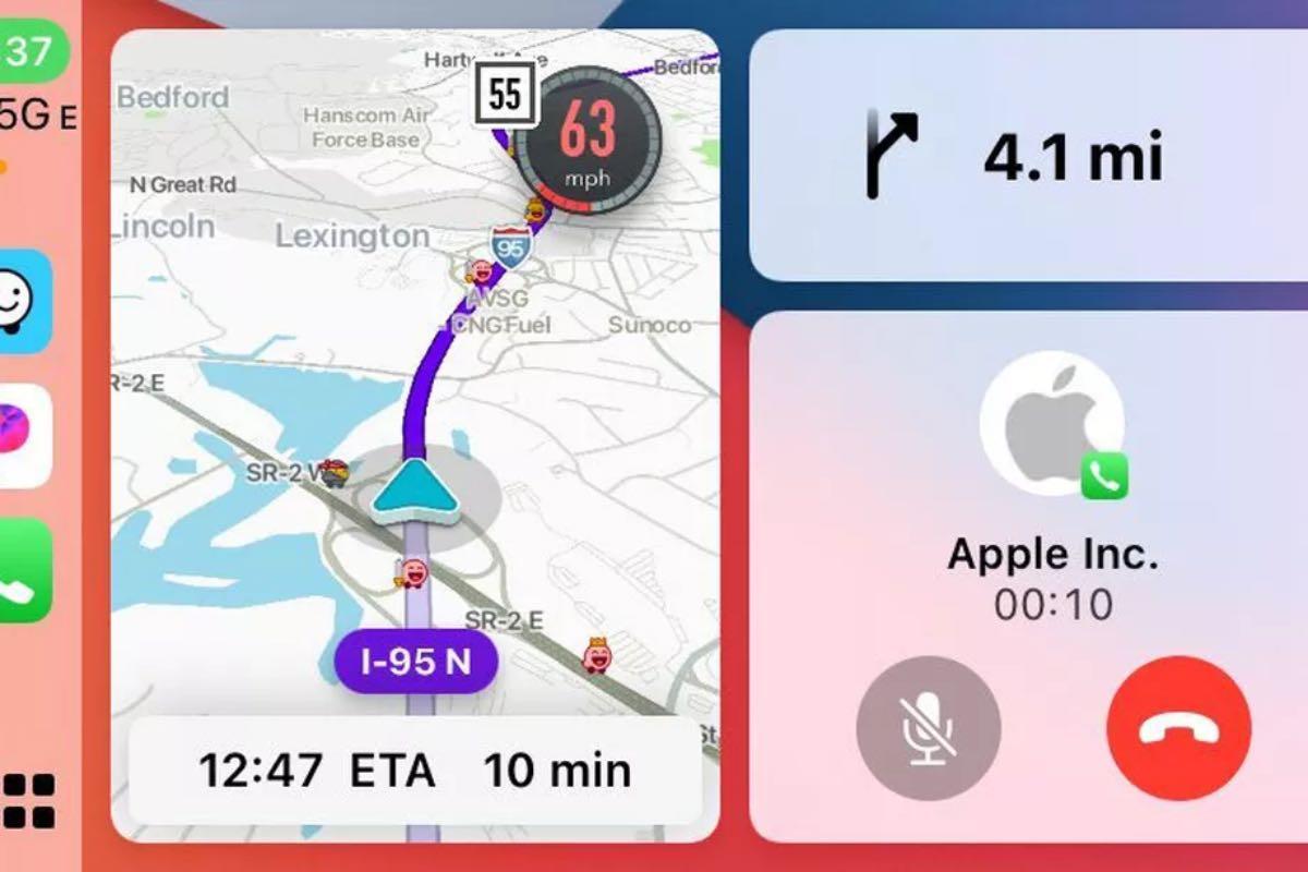 waze apple carplay split view