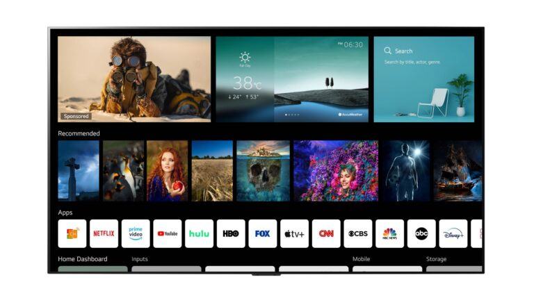 lg webos 6 sistema operativo smart tv